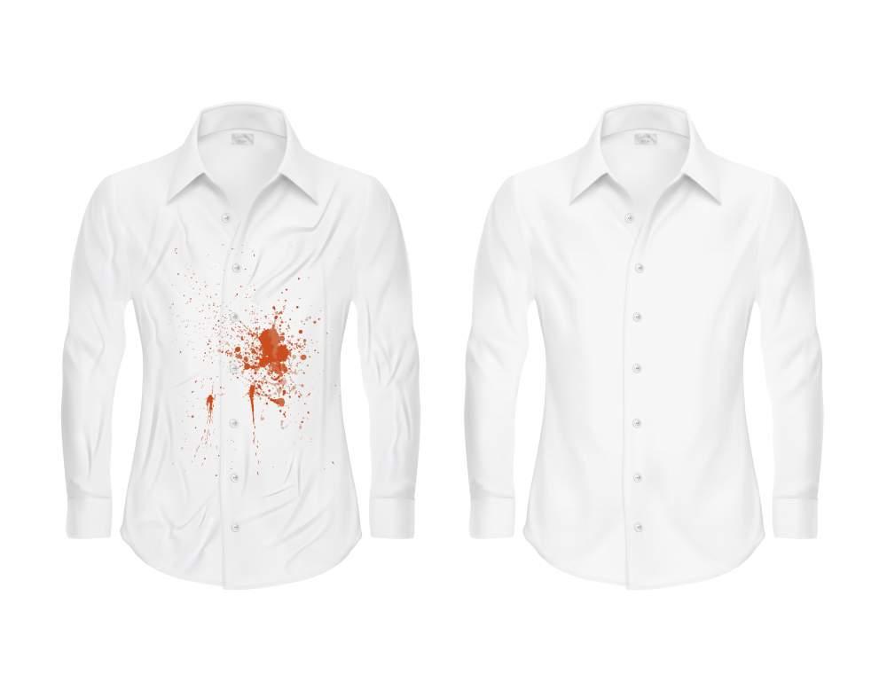 encre sur chemise